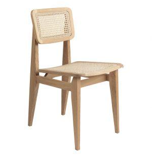 Chaise C-Chair en chêne et cannage
