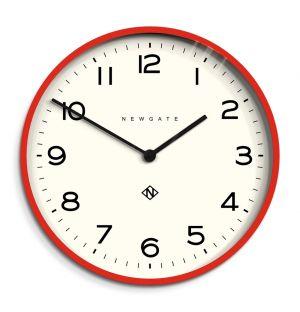 Horloge murale rouge Number One Echo
