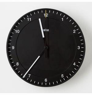 Horloge murale analogique Braun - noire