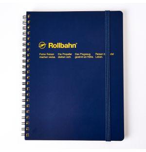 Bloc-notes Rollbahn A5 à spirales bleu