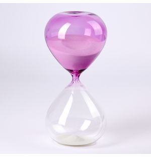Sablier 90 Minutes rose & transparent