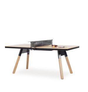 Table de ping-pong You & Me noire et chêne