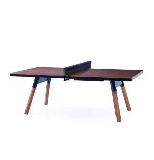 Table de ping-pong You & Me d'intérieur noyer & noir – 220 cm