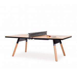 Table de ping-pong You & Me d'intérieur chêne & noir – 220 cm