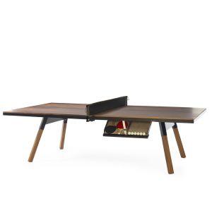 Table de ping-pong You & Me noire et noyer