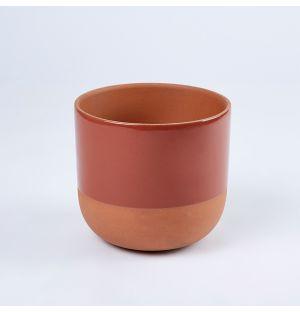 Cache-pot Clement Brique Large