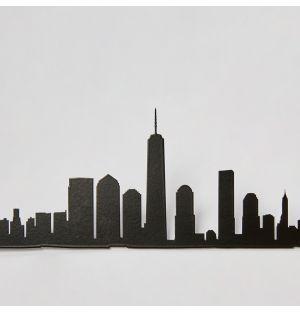 Frise métal New York Cityscape - noir