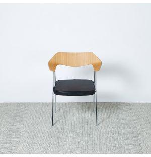 Tapis kilim à losanges gris & vermillon - 300 x 200 cm