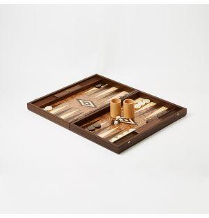 Coffret de Backgammon en Broussin de Noyer
