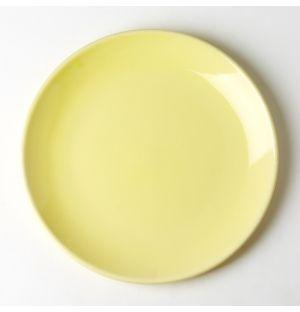 Assiette de table jaune paille Trattoria - 26 cm