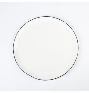 Assiette Cobalt en porcelaine - 28,5cm
