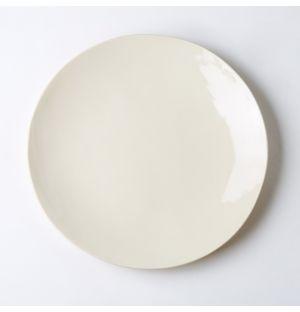 Assiette de table blanc lait – 29 cm