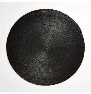 Set de table rond carbone – 38 cm