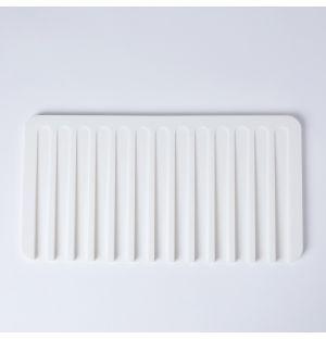 Egouttoir Flow en silicone blanc