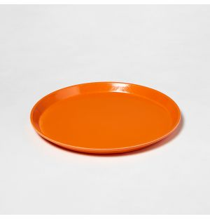 Plateau rond orange – 30,5 cm