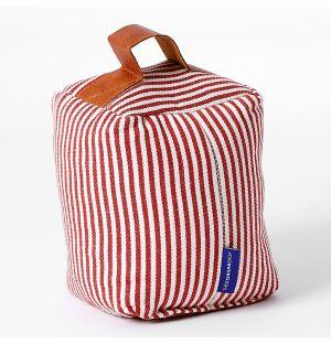 Cale-porte parfumé en tissu Candy rayé rouge pivoine & blanc