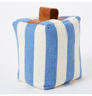 Cale-porte parfumé en tissu Candy rayé bleu & blanc