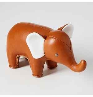 Presse-papier Éléphant en cuir synthétique