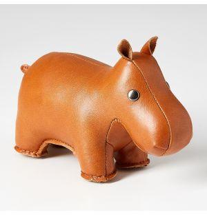 Presse-papier en cuir synthétique Hippo