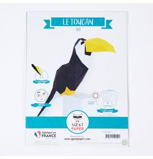 Toucan en papier 3D