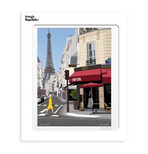 Affiche «Paris » par Paulo Mariotti - 40 x 50 cm