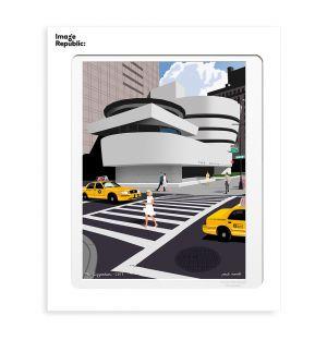 Affiche «Guggenheim » par Paulo Mariotti - 56 x 76 cm