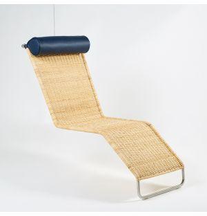 Chaise longue F42-E suspendue en rotin