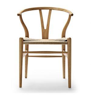 Chaise Wishbone CH24 chêne naturel huilé et corde naturelle
