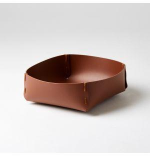 Panier carré marron – Large