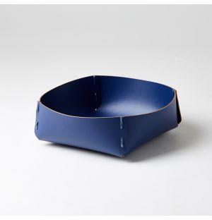 Panier carré bleu nuit – Large