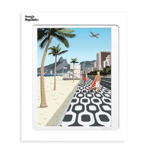 Affiche «Ipanema » par Paulo Mariotti - 40 x 50 cm