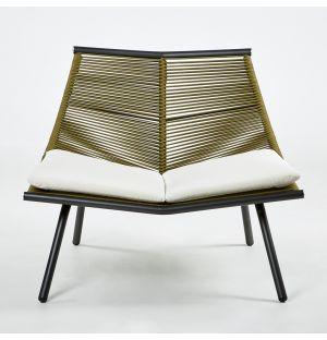 Chaise longue LAZE 001 Fumée et Olive