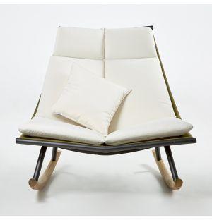 Chaise à bascule LAZE 003 Fumée et Olive