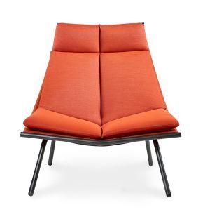 Chaise longue orange LAZE 002 dossier haut