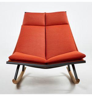 Chaise à bascule LAZE 003 Fumée et Orange