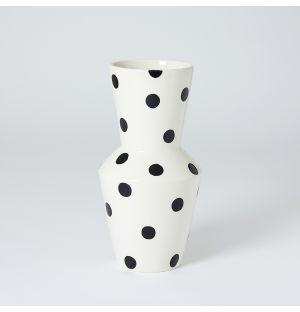 Vase  à pois noirs Tubolare