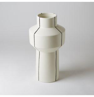 Vase Colonna à rayures Noires MANI