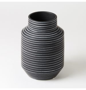 Vase Capitello à rayures Blanches MANI