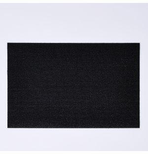 Paillasson Solid en vinyle bouclé noir