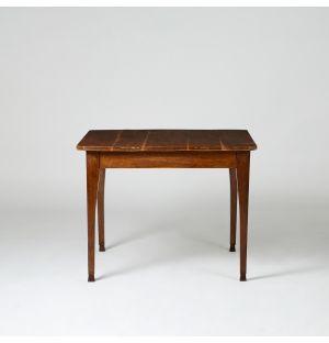 Table de jeu carrée en chêne 1880s - 90x90