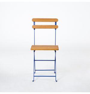 Chaise pliante bleue Bistro 403