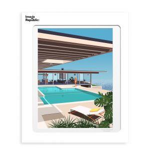 Affiche «Stahl House » par Paulo Mariotti - 40 x 50 cm