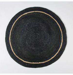 Set de table rond noir & naturel - 60 cm