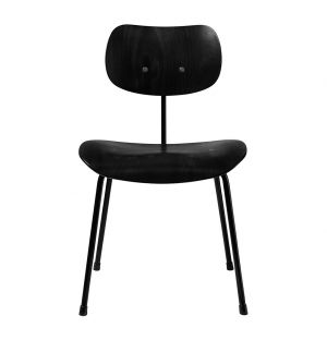 Chaise SE68 hêtre teinté noir