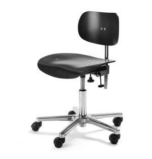 Chaise de bureau S197R Noire & Chrome