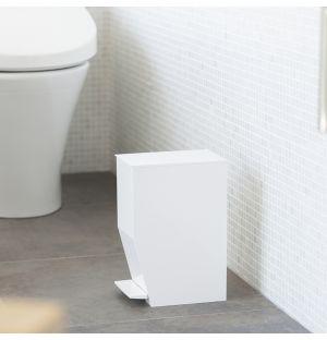 Poubelle de salle de bain blanche