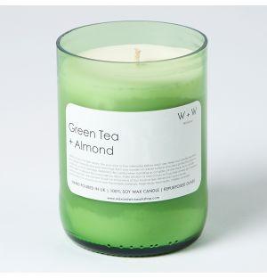 Bougie parfumée au thé vert et à l'amande