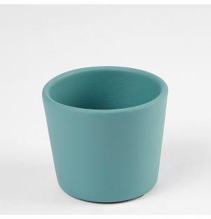 Cache-pot Pedregal turquoise 8,5 cm
