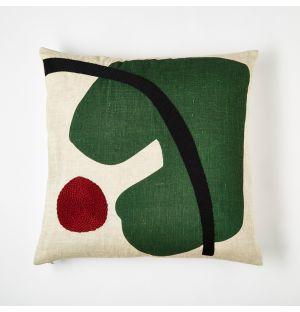 Housse de coussin verte Marlie – 45 x 45 cm