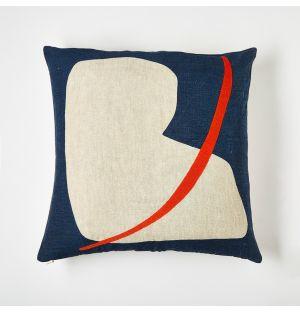Housse de coussin bleue Broone – 45 x 45 cm